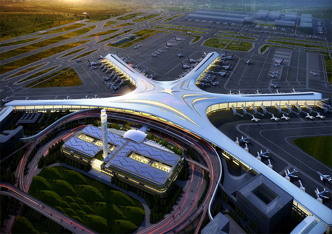 Qingdao jiaodong airport - metal roofing project