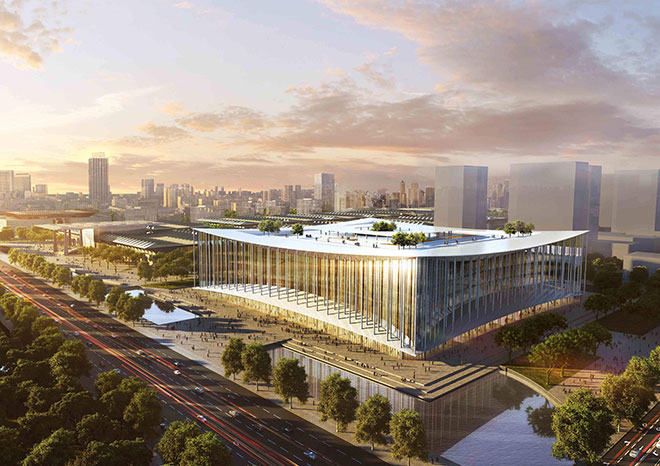 Xi 'an silk road conference and exhibition center - metal roofing project