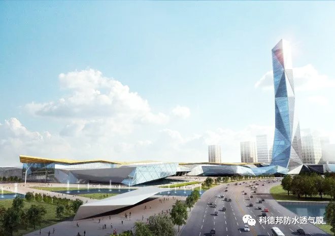 Shijiazhuang convention and exhibition center - metal roofing project