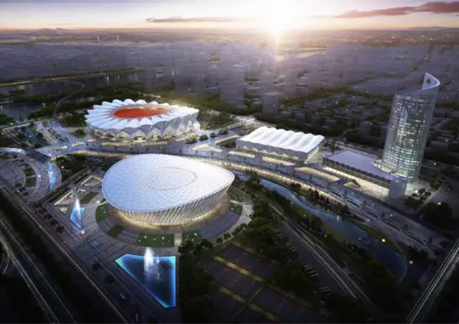 Xi 'an Olympic sports center - metal roofing project